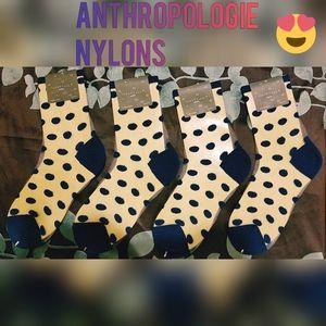 Anthropologie polka dot Nylons